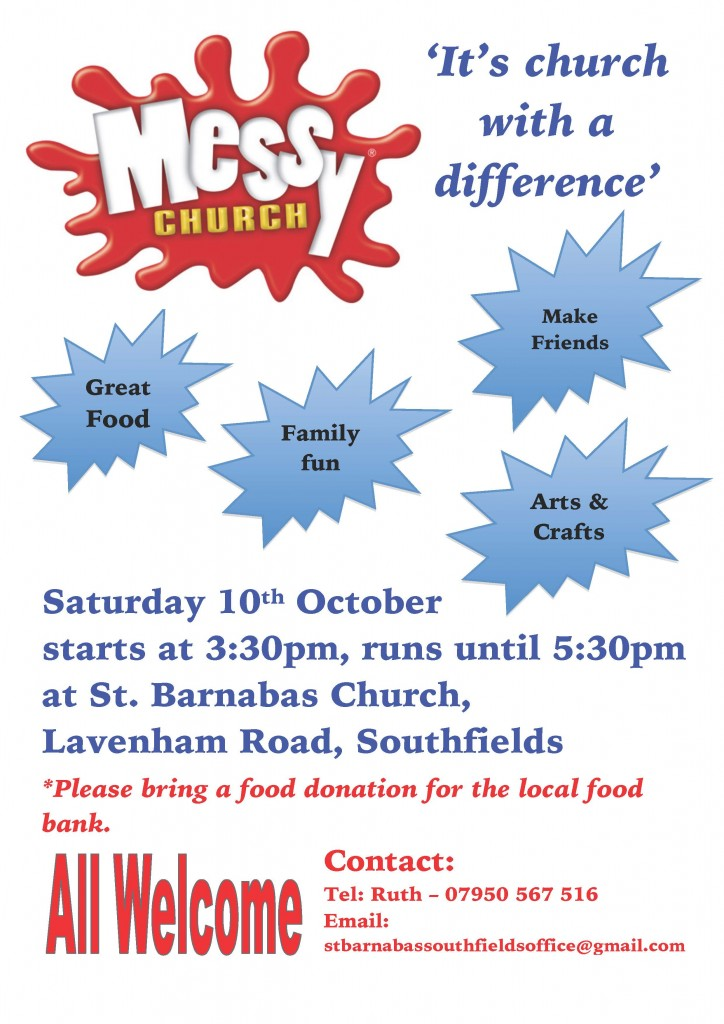 Messy Church Flyer (October 2015)